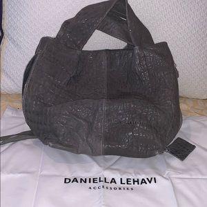 NWT - Daniella  Lehavi Elika Grey Sheepskin Bag